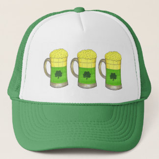 Green Beer Irish Shamrock Mug St Patrick's Day Hat