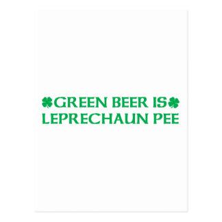Green Beer Is Leprechaun Pee Postcard