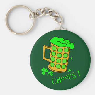 Green Beer Keychain - St Patricks Day Gifts