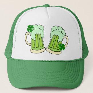 Green Beer Mug Toast Alpha Trucker Hat