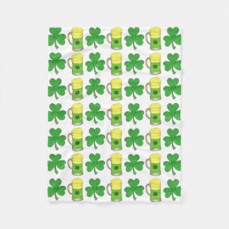 Green Beer Shamrock St. Patrick's Day Blanket