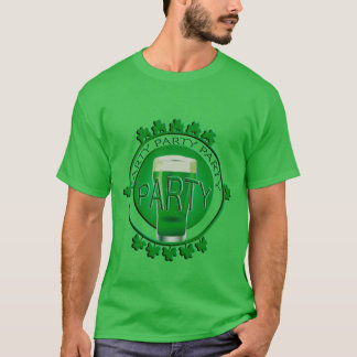 Green Beer St Patricks Day Shamrocks  Green T-Shirt