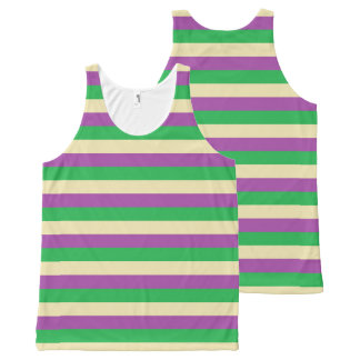 Green, Beige and Purple Stripes