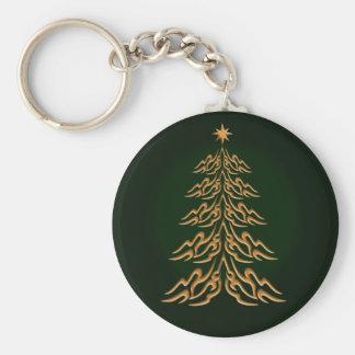 Green Bell Christmas Tree Key Chain