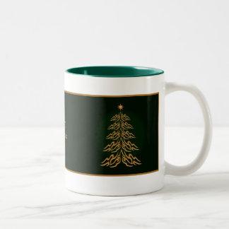 Green Bell Christmas Tree Mug
