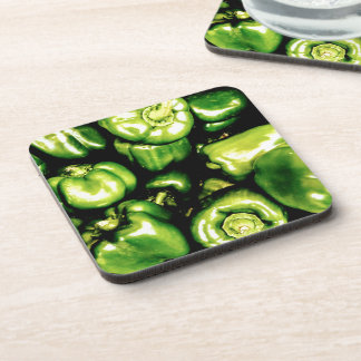 Green Bell Peppers Drink Coaster