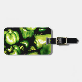 Green Bell Peppers Luggage Tag