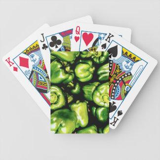 Green Bell Peppers Poker Deck