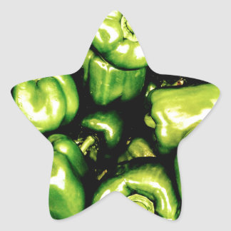Green Bell Peppers Star Sticker