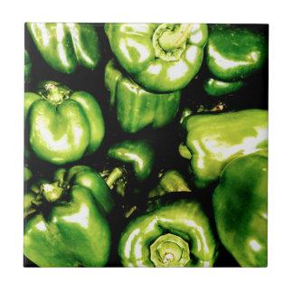 Green Bell Peppers Tile
