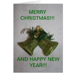 Green Bell s closeup Christmas CARD