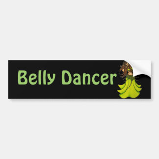 Green Belly Dancer Bumper Sticker