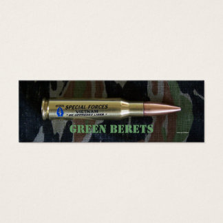green berets special forces group bookmarker mini business card