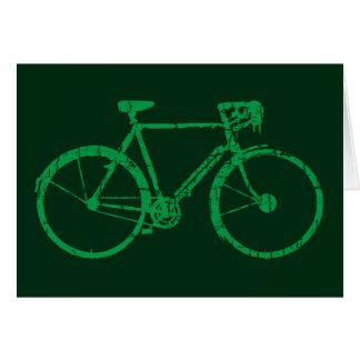 green bicycle card