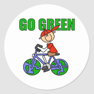 Green Bicycle Gift Stickers