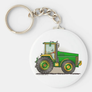 Green Big Tractor Key Chains