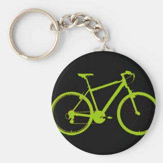 green bike - cycling keychain