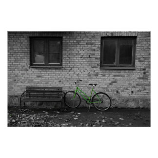 green bike photo print