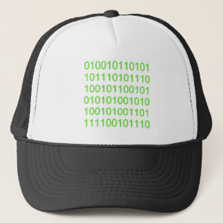 Green Binary 01 - GeekShirts Trucker Hat