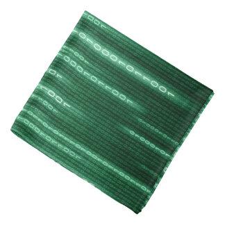 Green Binary Rain Bandana