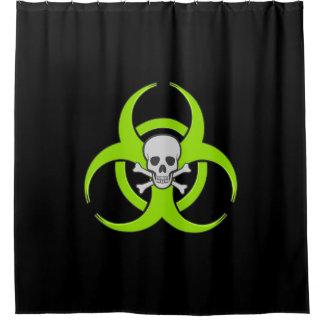 Green Biohazard Skull and Crossbones