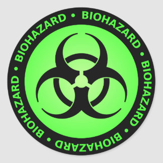Green Biohazard Symbol Sticker