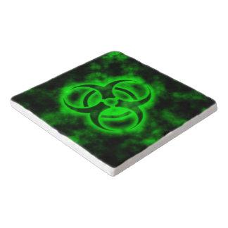 Green Biohazard Symbol Trivet