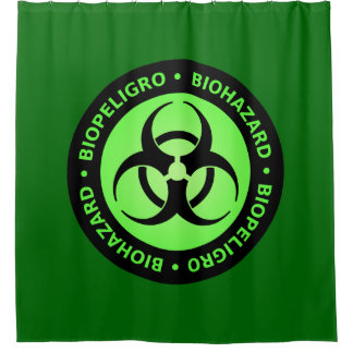 Green Biohazard Warning Sign