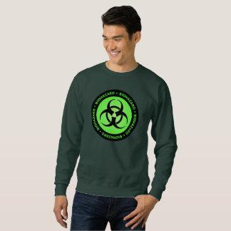 Green Biohazard Warning Sign Sweatshirt