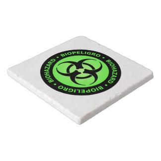 Green Biohazard Warning Sign Trivet