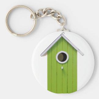 Green Bird House Key Chain