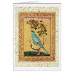 Green Bird, Mughal (gouache on paper) Cards