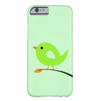 Green Bird on Branch Barely There iPhone 6 Case
