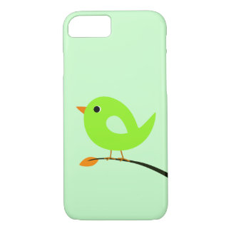 Green Bird on Branch iPhone 7 Case