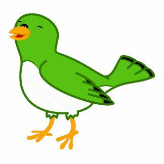 Green Bird Photo Sculpture Magnet