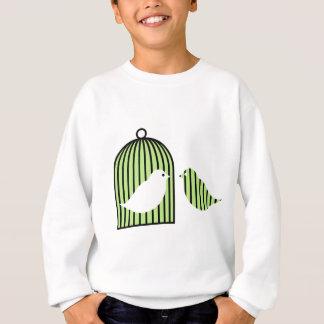 Green birdcage sweatshirt