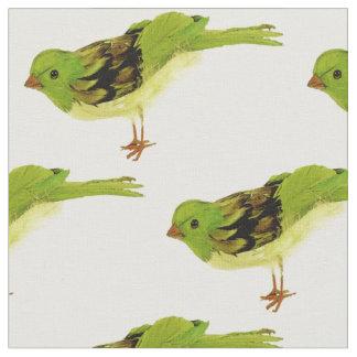Green Birds Fabric