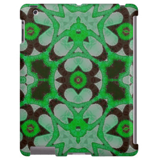 Green Black Abstract Pattern