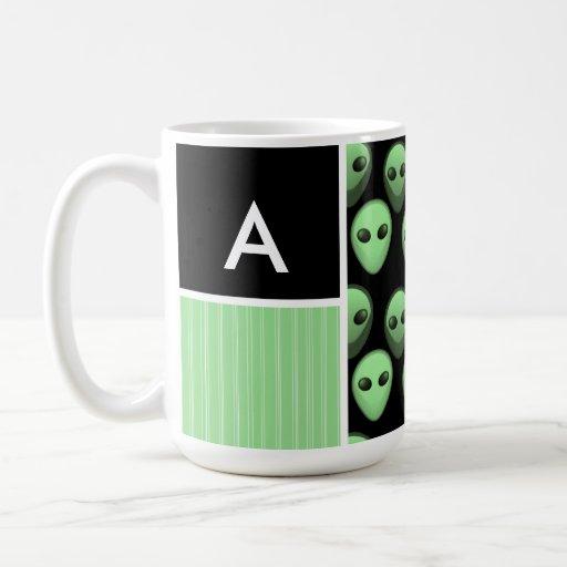 Green & Black Alien Mugs