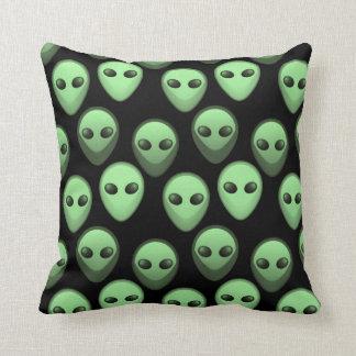 Green & Black Alien Pattern Pillow