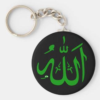 Green Black Allah Key Chains