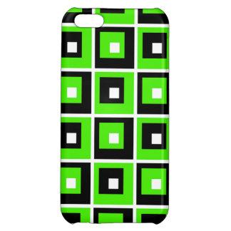 Green, Black  and White Case For iPhone 5C