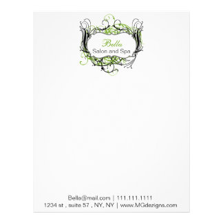 green black and white Chic Business letterheads Letterhead