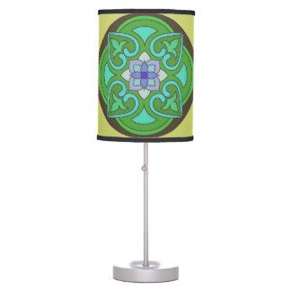 Green Black Blue Floral Design Neon Lamp