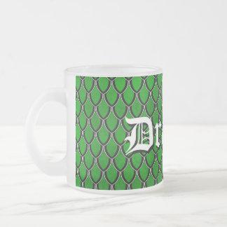 Green Black Custom Dragon Scale Mug