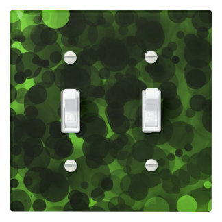 Green & Black Dots Modern Chic Party Custom Decor Light Switch Cover