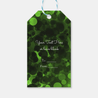 Green & Black Dots Modern Chic Party Custom Favor Gift Tags