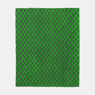 Green Black Dragon Scale Blanket