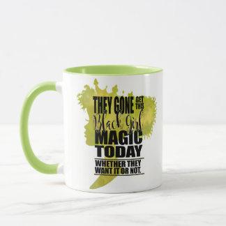 Green Black Girl Magic Mug