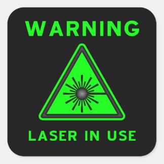 Green & Black Laser Warning Sign Sticker